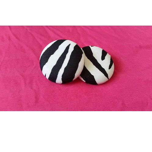 FABB Zebra Button Studs
