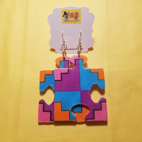 FABB Obatala Ankara Puzzle Earrings