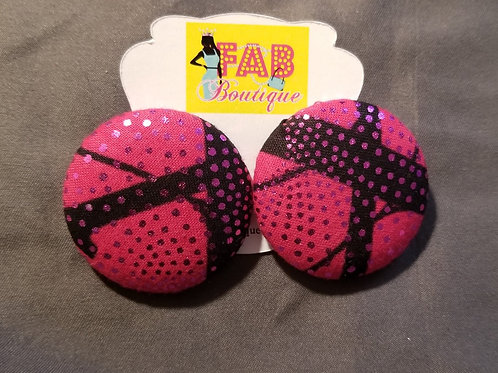 FABB Techno Pink Button Studs