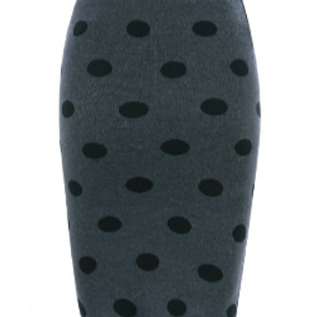Polka Dot Pencil Skirt