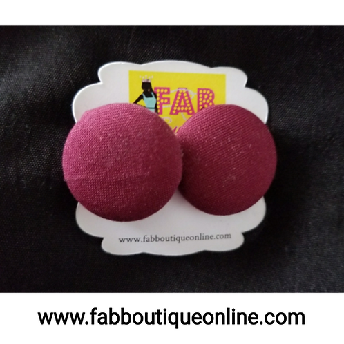 FABB Cranberry Button Studs