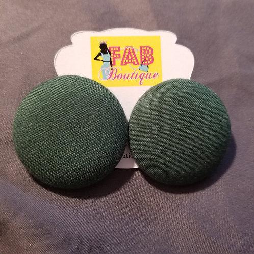 FABB Fall Green Button Studs