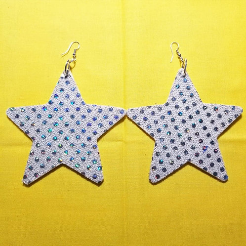 FABB Silver Sequin Star Danglys