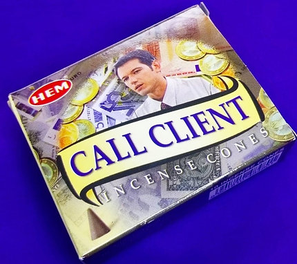 Call Client Incense Cones