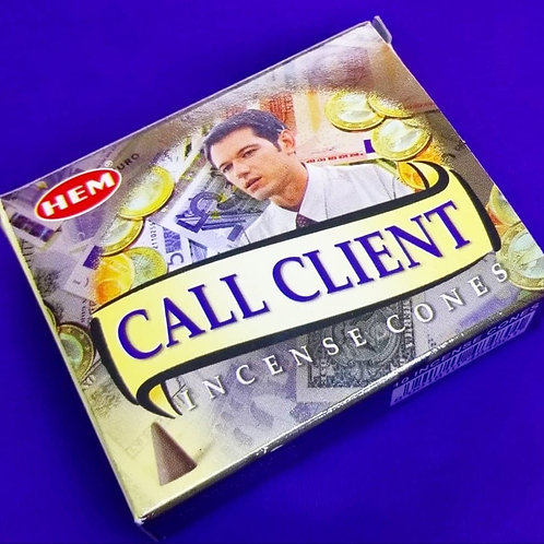 Call Client Incense Cones