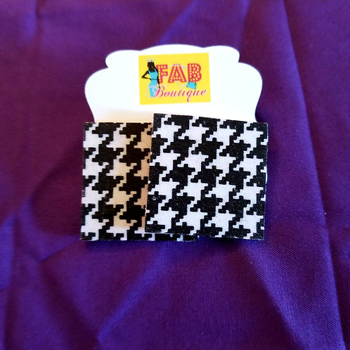 FABB Houndstooth Square Studs