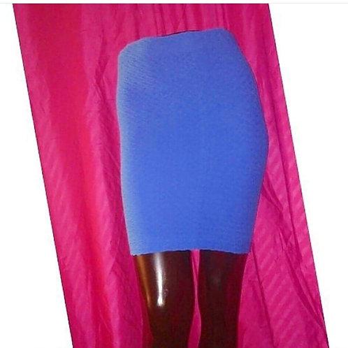 Neon Blue Mini Pencil Skirt