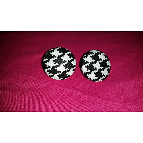 FABB Houndstooth Button Stud