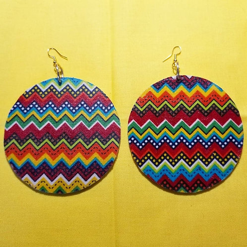 FABB African Waves Circle Earrings