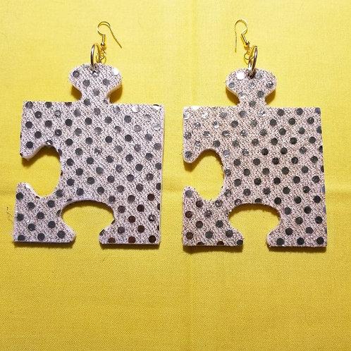 FABB Gold Sequin Arrow Puzzle Danglys