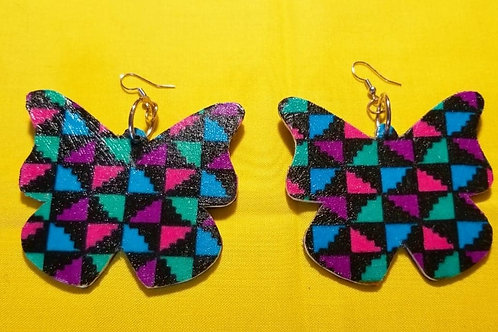 FABB Butterfly Kaleidoscope Ankara Earrings