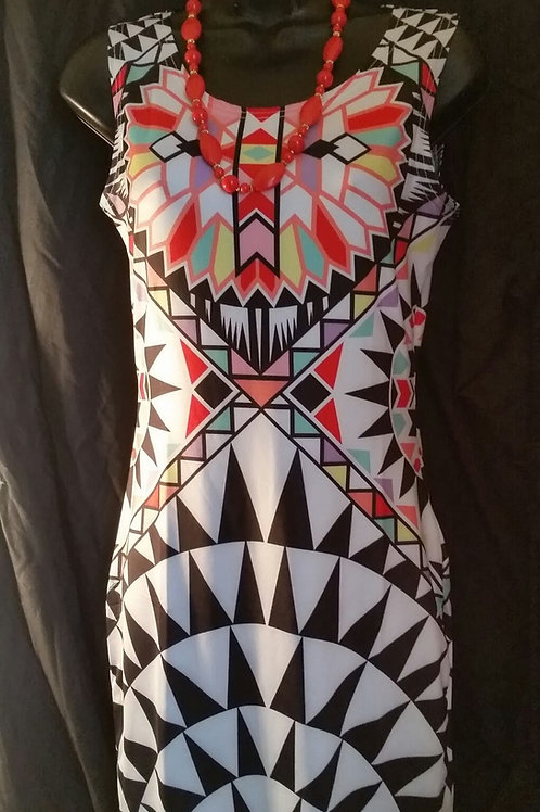 Spring Geometric Form Fitting Dress