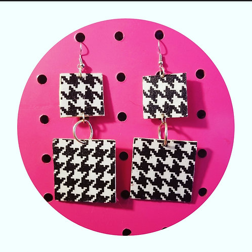 Double Square Houndstooth Handmade Danglys