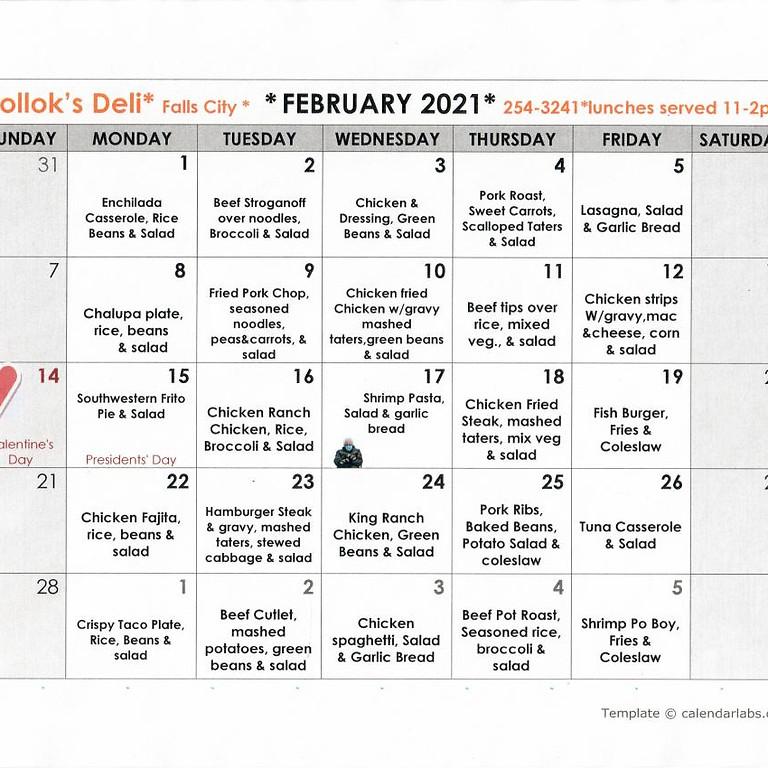 Monthly Deli Menu