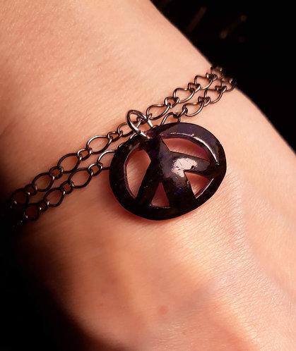 Upcycled Peace Bracelet