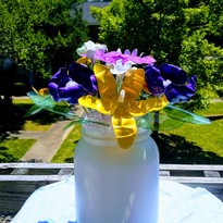 Beautiful Recyled Bottle Flowers