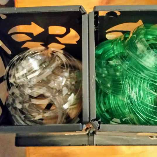 Lots of recycled bottle rope!