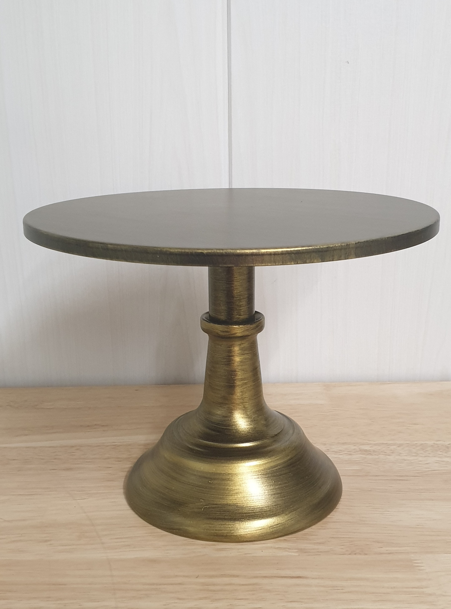 """Brushed Gold Stand 10"""" Adjustable Height"""