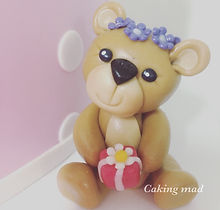 Fondant Teddy Bear Cake Topper