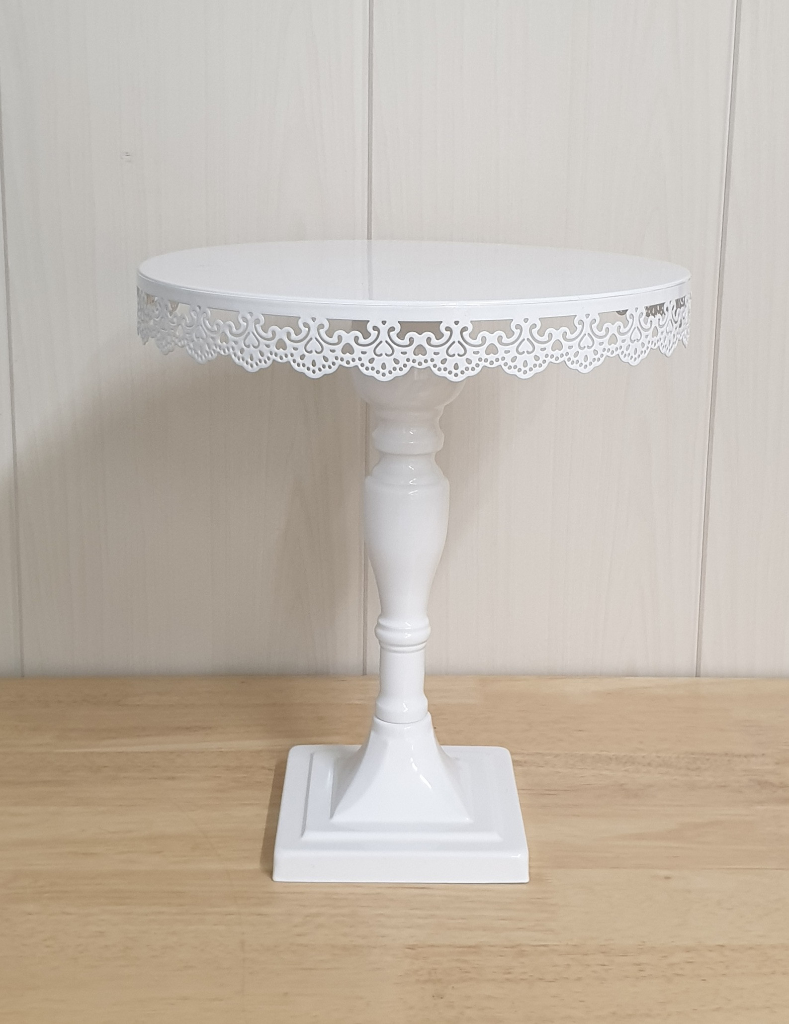Tall White Stand - Lace Edge