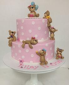 2 tier teddy bear cake
