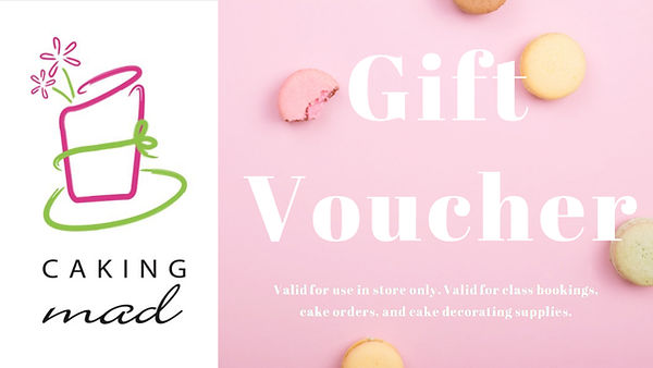 Caking Mad Gift Voucher Card