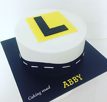 Learners L plate 16th birtday cake