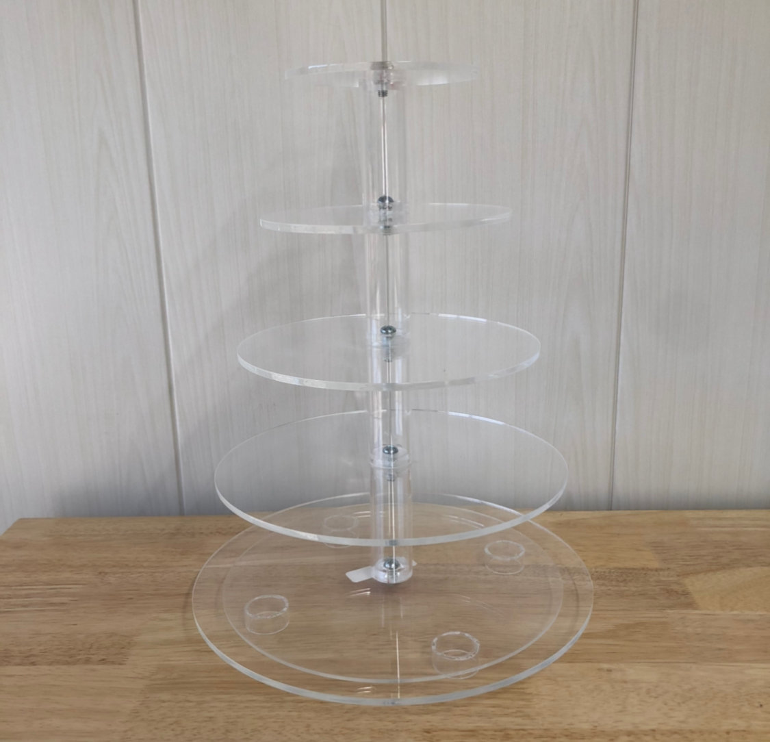 Acrylic Round Cupcake Stand (5 tiers)