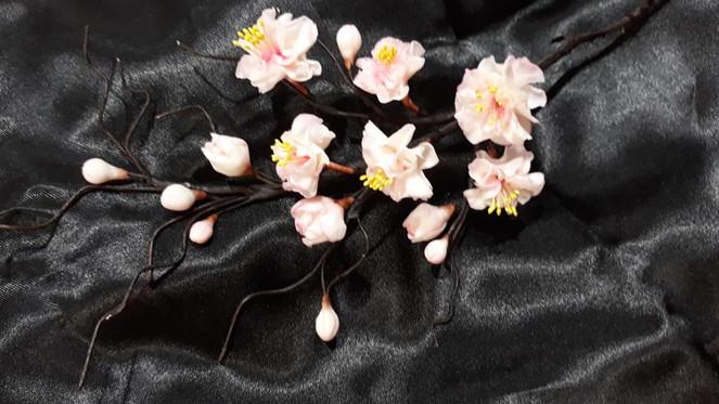 Cherry blossom spray. Includes buds, blo