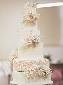 6 Tier Romantic Floral Wedding Cake