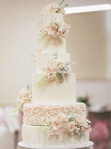 6 Tier Romantic Floral Wedding Cake