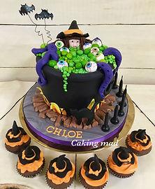 Witch Cauldren Cake