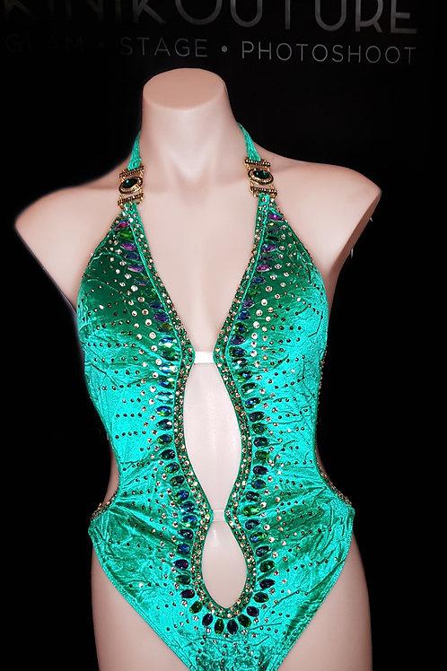 Lux Green Velvet 1-Piece