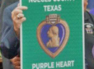 Purple Heart Road Sign