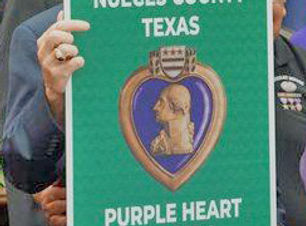 Purple Heart Road Sign