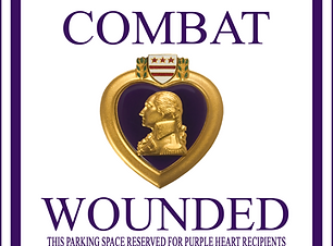 Combat Wounded Reseved ParkingSign