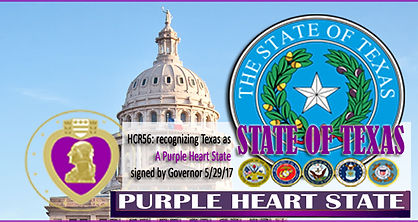 Texas is a Purple Heart State