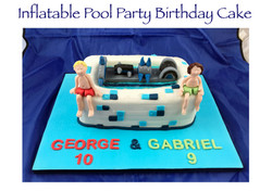 Inflatable Pool Party Birthday Cake