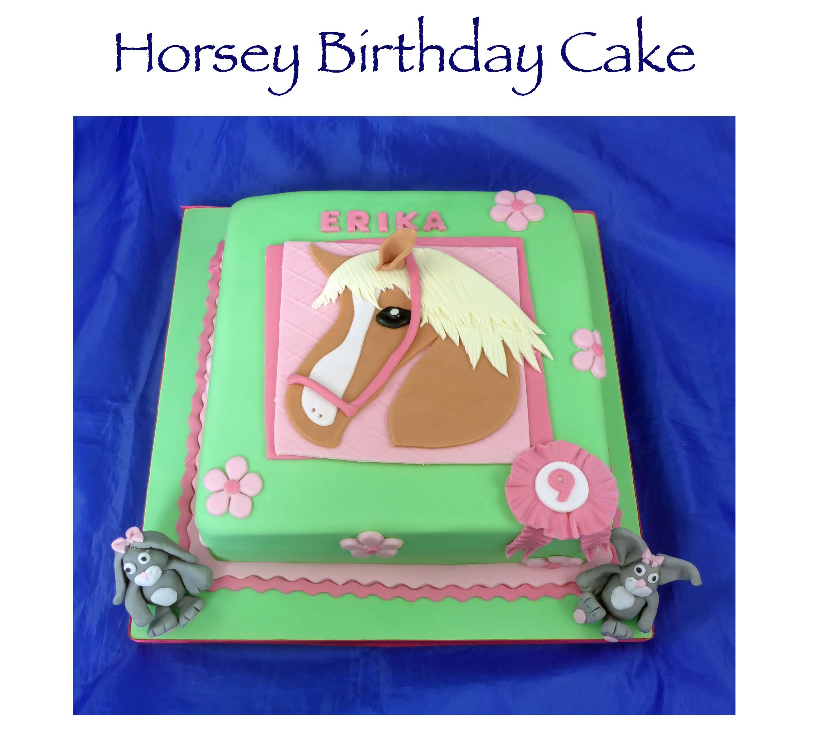 Horsey Birthday Cake