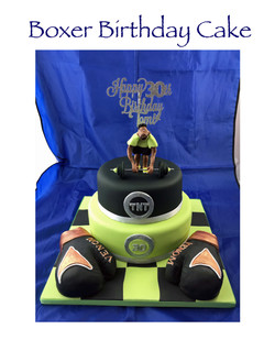 Boxer Birthday Cake
