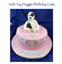 Soft Toy Doggie Birthday Cake