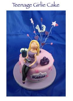 Teenage Girlie Birthday Cake