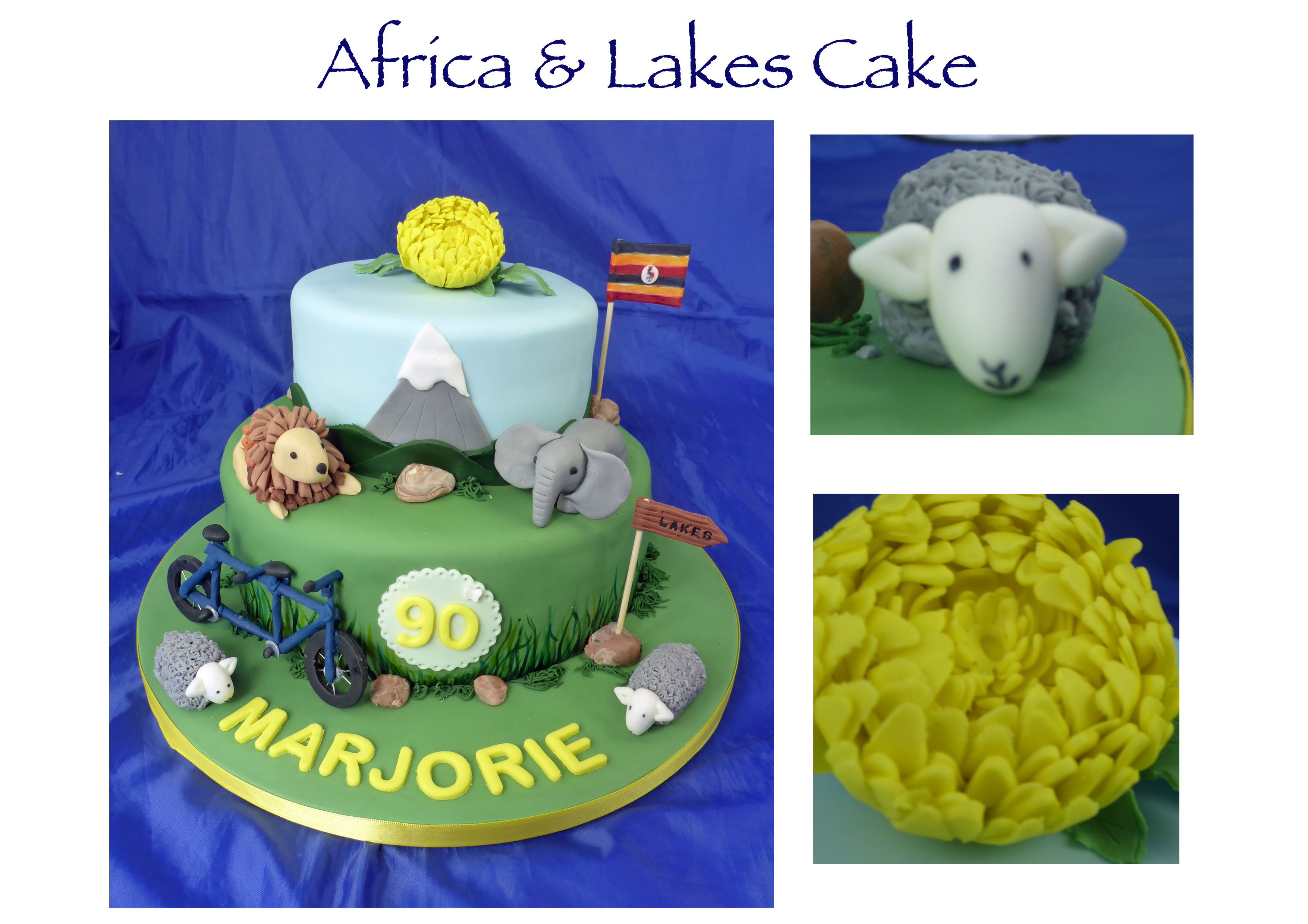 Africa and Lakes Cake