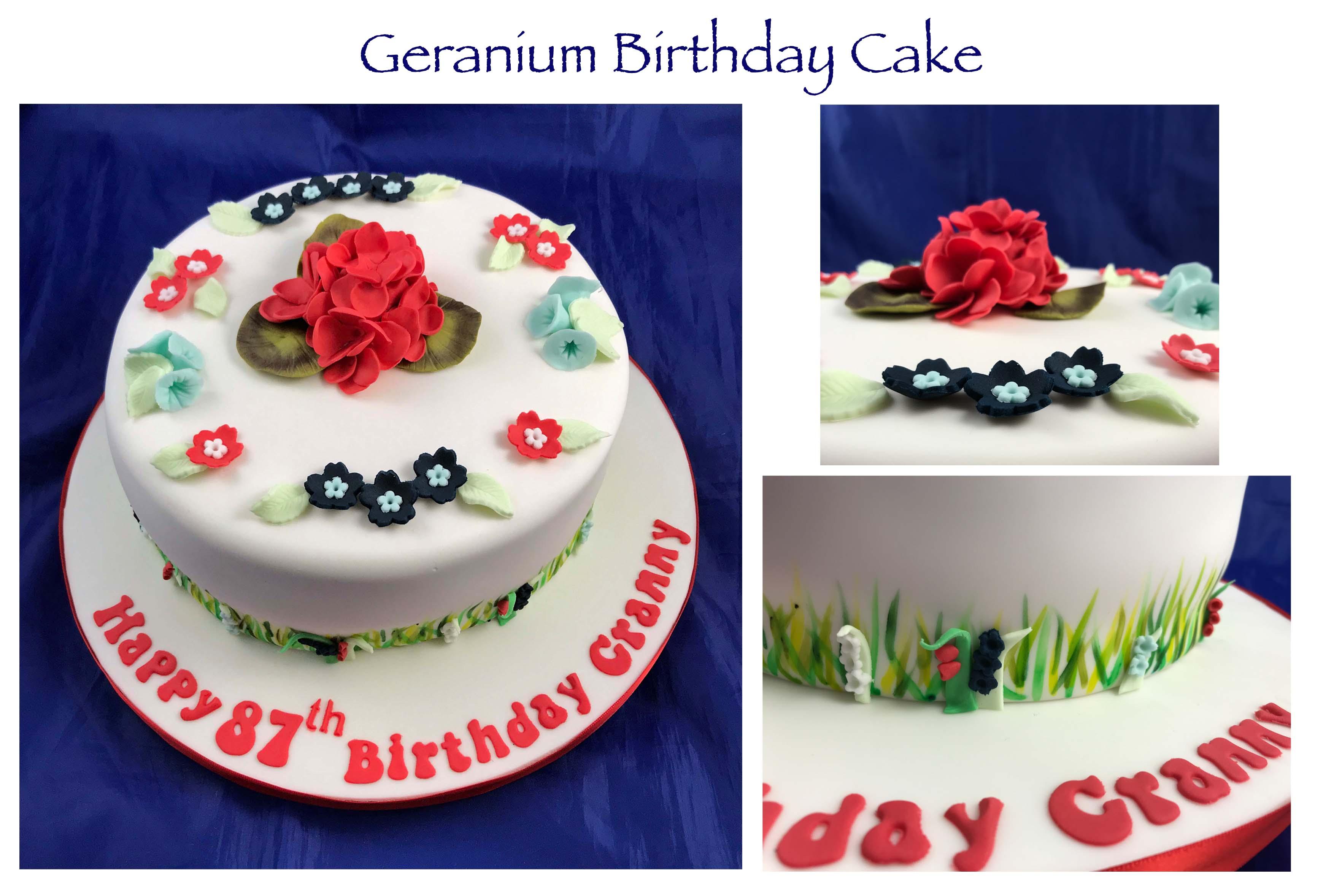 Geranium Birthday Cake