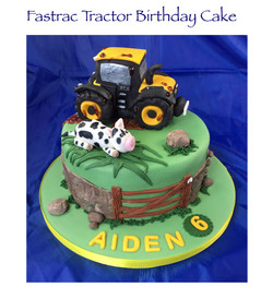 Fastrac Tractor Birthday Cake