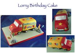 Lorry Birthday Cake