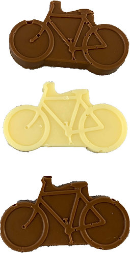 Small chocolate bicycles x 3