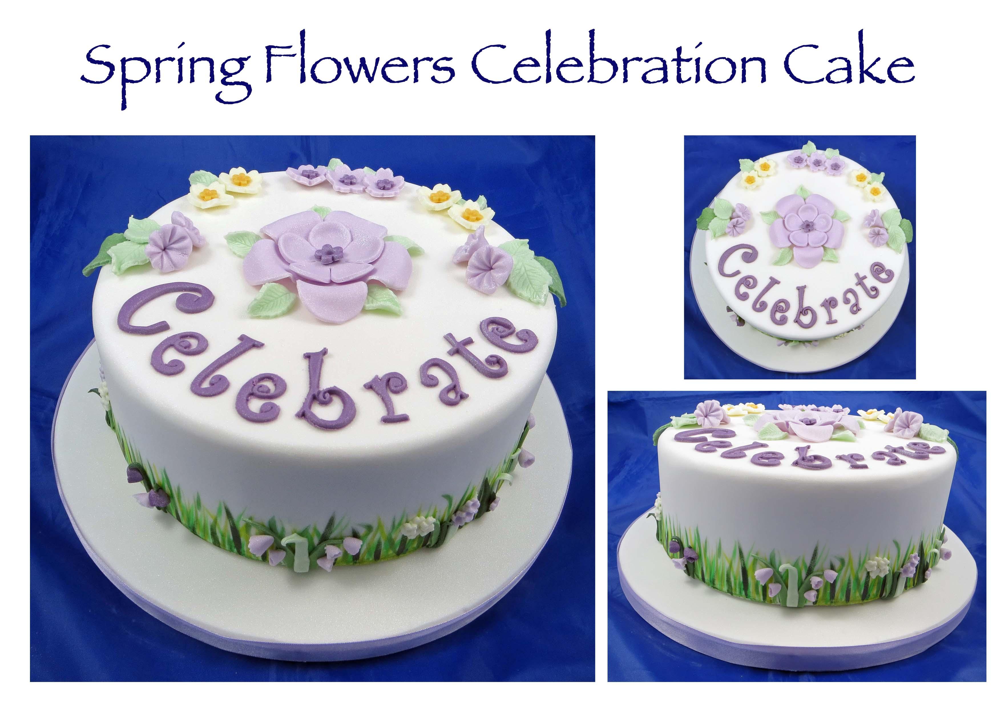 Spring Flowers Celebration Cake