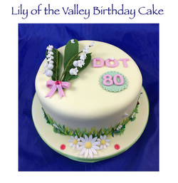 Lily of the Valley and Daisy Birthday Ca