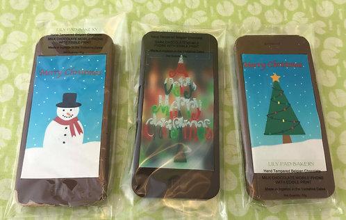 Chocolate Christmas Mobile Phones